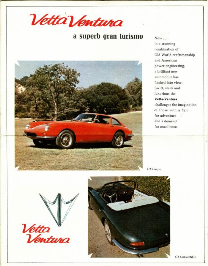 Apollo Vetta Ventura catalouge - Barchetta Sports Cars